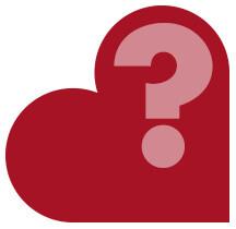 Coração com ponto de interrogação (cores dupla-sena)