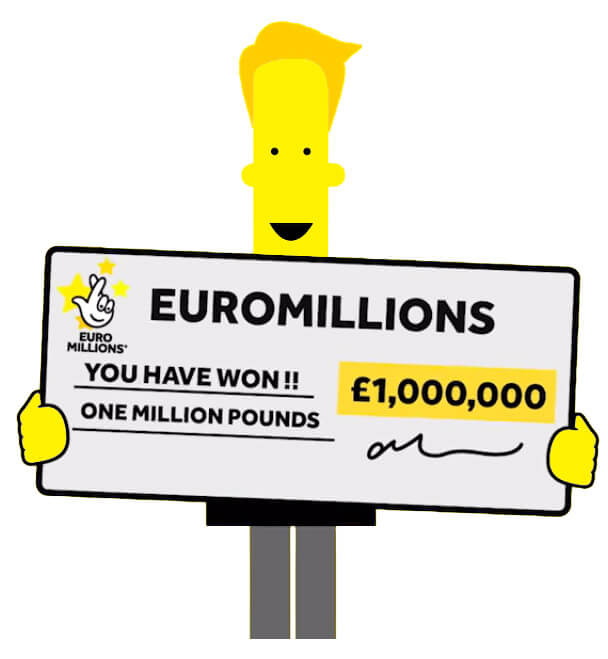 Man with Euromillions check