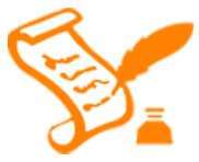 History icon orange
