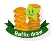 Raffle Draw - coins and irish lotto star