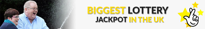 image of winners, text Biggest jackpot in the UK and Euromillions logo