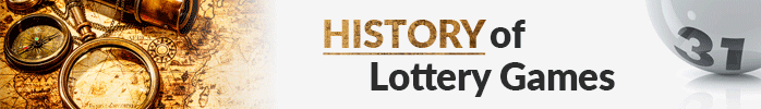 History of lottery games image with hisotrical map