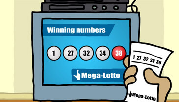 Megalotto draw in tv and complete match ticket of megalotto