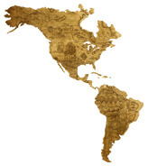 america with historic pattern