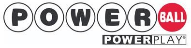 Powerball lottery logo with powerplay
