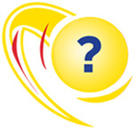 Megamillions logo with questionmark